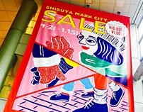 Shibuya Markcity ___ Winter Sale Poster
