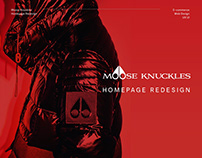 Moose Knuckles - Homepage Redesign