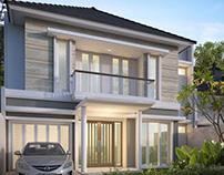 Rumah Tropis Moderen di Kendangsari Surabaya