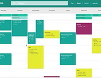 Redesign of Google's web calendar [Material Design]