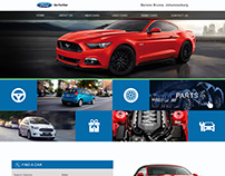 Homepage design for ford