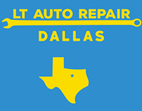 LT Auto Repair Logo Concept