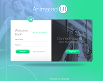 Animated UI #01 / Login Page