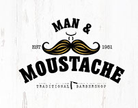 Man & Moustache Traditional Barbershop Branding (Concep