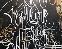 ''₩ ℍ 0. Wع ₳Rع'' Modern concept calligraphy.