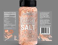 Himalayan salt label