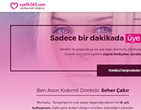 Landing page for Turkish Avon Re-Seller