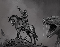 fantasy the Snake king battle Storyboard