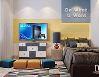 Boy Bedroom design _ PS4 Corner