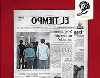 Backwards Newspaper
