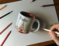 3D drawing Paris Coffee Mug