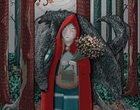 Little Red Riding Hood - Children's Book Illustration