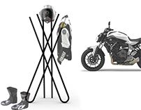 Hanger for motorbike clothes. Designed for YAMAHA
