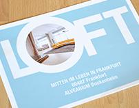 Brochure design LOFT exposé