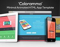 Coloramma - Minimal Animated HTML App Landing Page