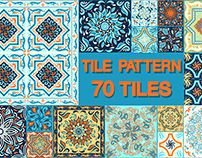 A set of ornaments for ceramic tiles.