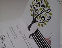Convite Casamento com detalhe em pop up