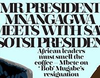 Editorial illustration - Presidents meet