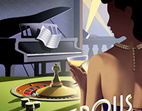 Deco style book covers