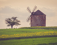 Country with windmill