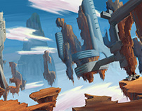 Sci-fi Floating Ruins