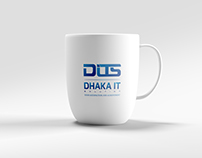 Logo Made for Dhaka IT Solution - DITS