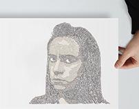 typographic portrait / retrato tipográfico