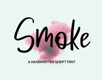 Smoke Handwritten   FREE and Commercial License