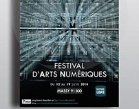 Affiche festival d'Arts Numériques (projet fictif)