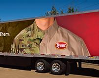 Tyson Foods Veterans Truck Wrap Concept