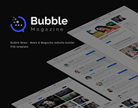 Bubble News - News & Magazine Website PSD Templete