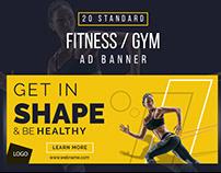 Fitness/Gym Web Banner Design