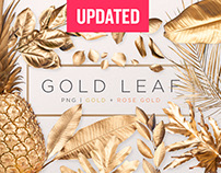 Gold Painted Leaves Collection