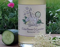 Elderflower & Cucumber Flavoured Gin Label