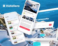 Hotel booking website & app design