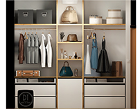 Wardrobe in apartment