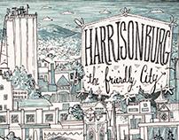 Downtown Harrisonburg Illustration