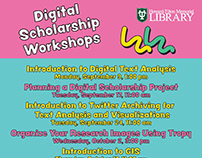 Tulane Libraries Workshops Flyers Fall 2019