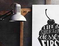 Handlettering Poster-Design