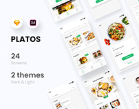 PLATOS - Food delivery app UI kit