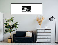 Free Landscape Frame Mcokup