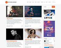 Blog Right Sidebar - Music WordPress Theme