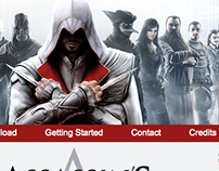 Assassin's Creed Website Layout