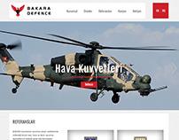 Bakara Defence website tasarım çalışması.
