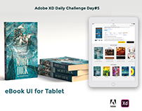 eBook UI for Tablet - AdobeXD Challenge Day 5