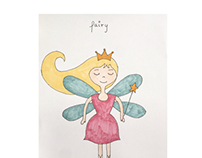 Fairy pen and ink drawing
