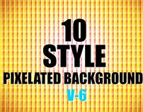 10 Style Pixelated Backgrounds