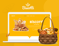 Biscotti Website Design