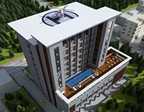 3D Hotel Exterior & Interior