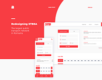 Case study: Redesigning a transport website - stbsa.ro
